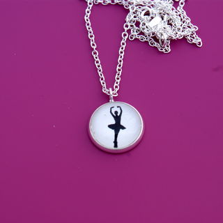 Happful Ballerina Silhouette Necklace