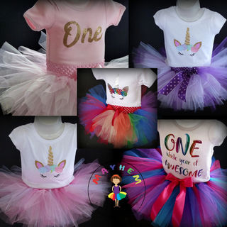 Mayhem Tutu + onesie or tshirt Birthday Outfit