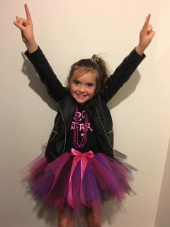 Mayhem Pink and black Rockstar tutu skirt