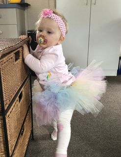 Mayhem Creations Pastel rainbow tutu skirt