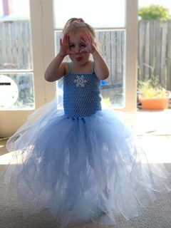 Mayhem Frozen Winter Wonderland princess tutu dress