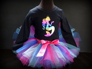 Mayhem Berrylishiss Tutu and Mermaid Tshirt