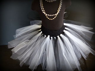 Mayhem Creations Custom Black and White Tutu Skirt
