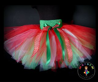 Mayhem Creations Xmas Tutu Skirt