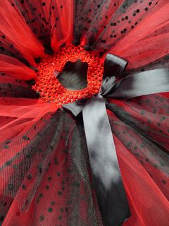 Mayhem Creations Ladybug Costume Tutu Skirt