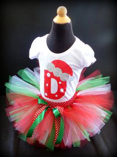 Mayhem Creations Xmas Tutu Skirt and Tshirt Outfit