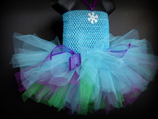 Mayhem Creations Aqua Fairy Tutu Dress