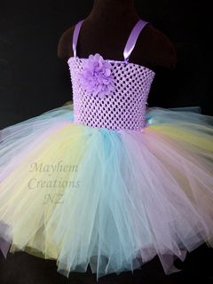 Mayhem Creations Pastel Rainbow tutu dress