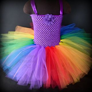 Mayhem Creations NZ Rainbow tutu dress