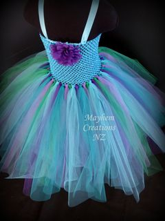 Mayhem Creations Blue tutu dress custom order