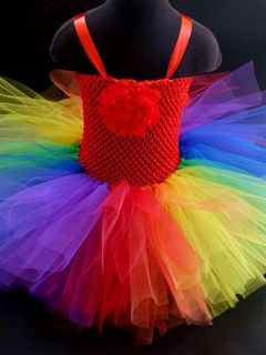 Mayhem Red Rainbow Tutu Dress