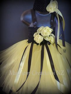 Mayhem Custom Tutu Dress Yellow and Black