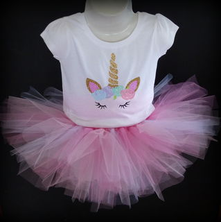 Mayhem Unicorn tutu outifit pink