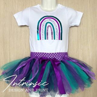 Purple tutu set