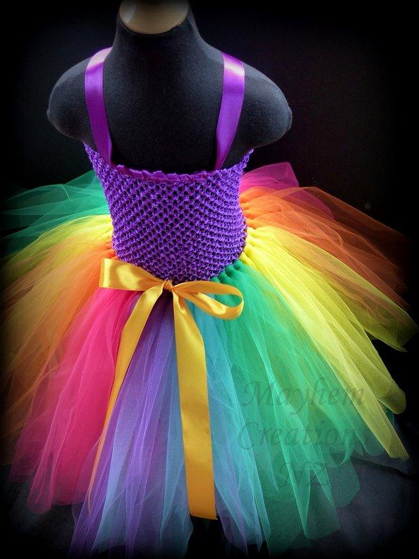 Mayhem Long Rainbow Tutu Dress