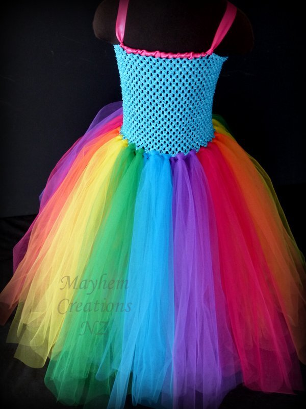 Mayhem Long Rainbow Tutu Dress