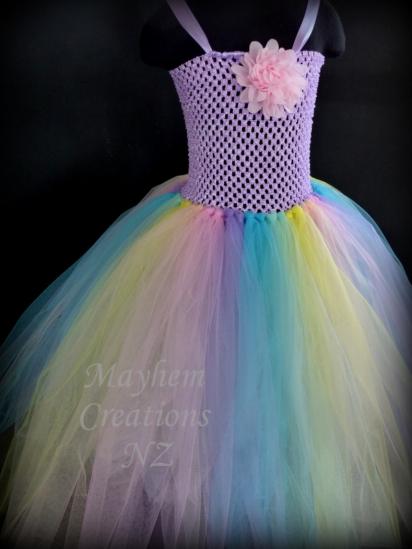Mayhem Pastel Rainbow tutu dress