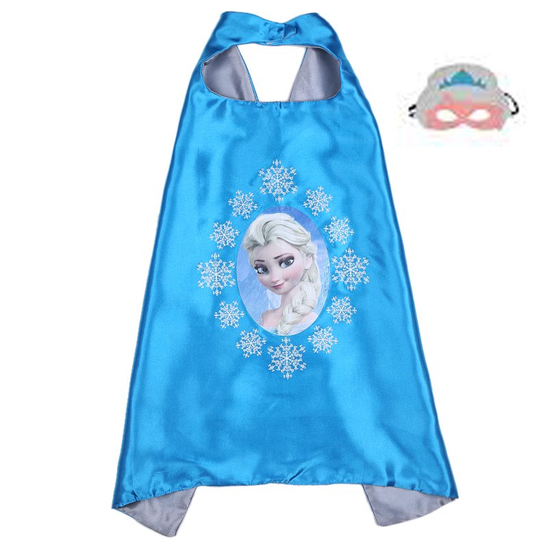 Frozen Princess Elsa Dress Up Cape and Mask