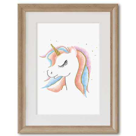 Unicorn Portrait Print